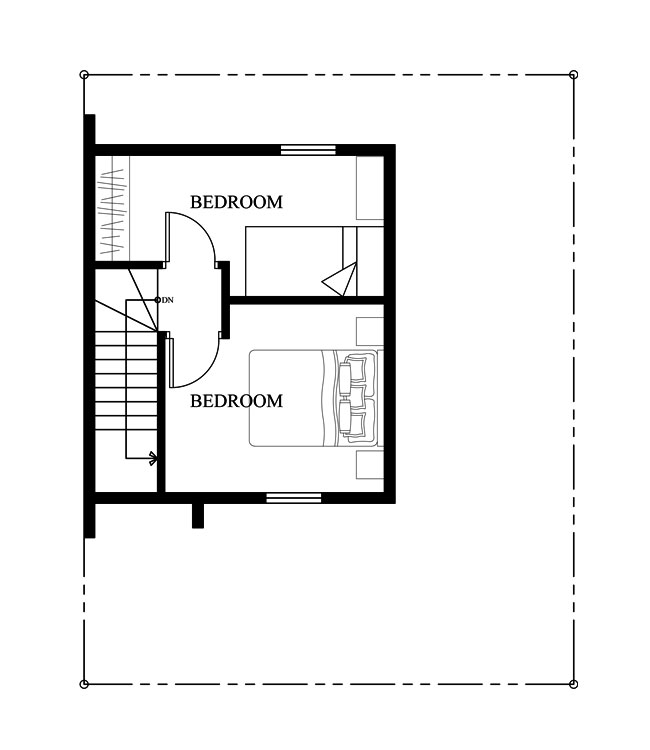 Small Home Design Plan 7x9m with 2 Bedrooms - House Plans 3D