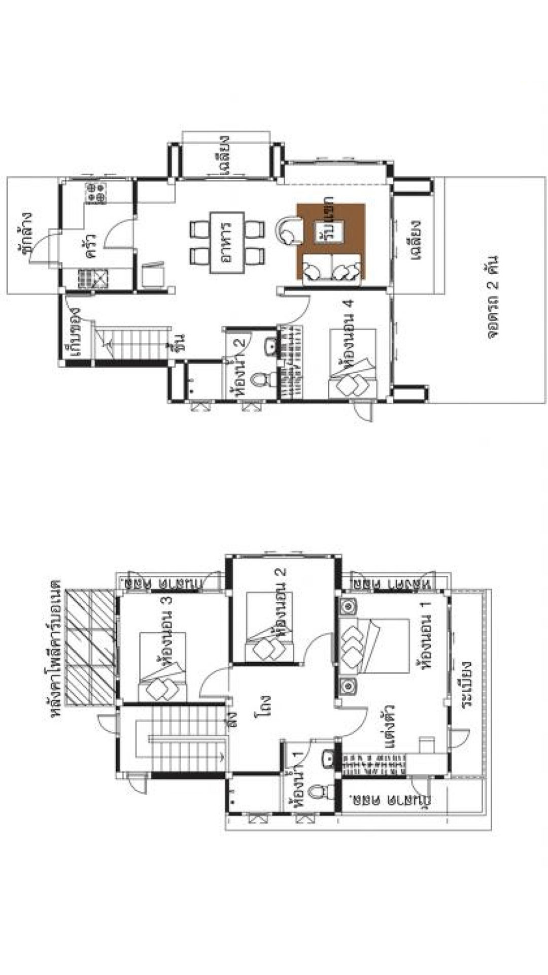 Small Home Plans 6x9m with 4 Bedrooms - House Plans 3D