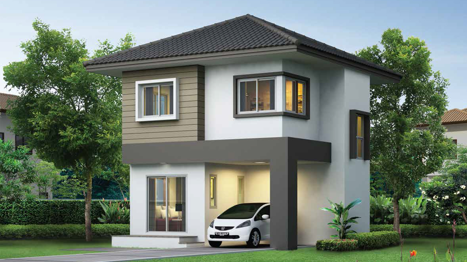 Small House Plan 6x6.25m with 3 bedrooms - House Plans 3D